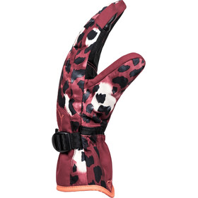Roxy Jetty Gloves Women, oxblood red leopold